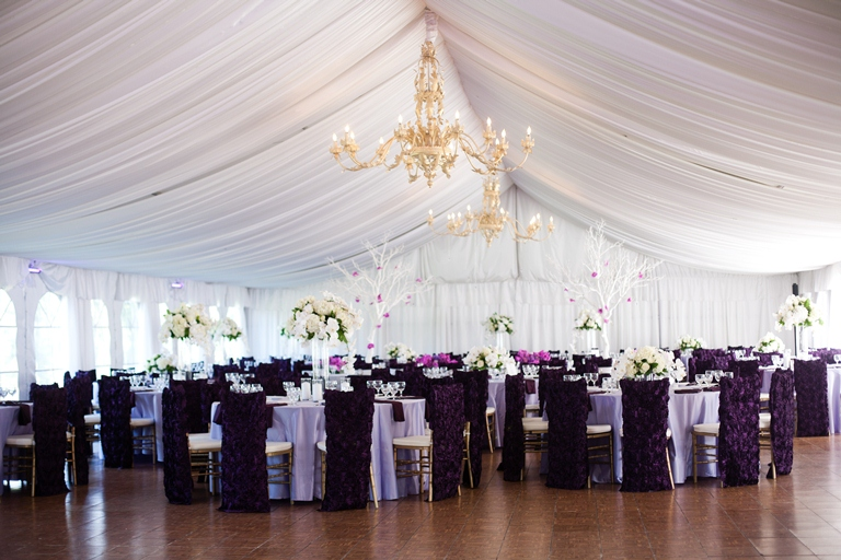 Grand Island Mansion Tent Wedding