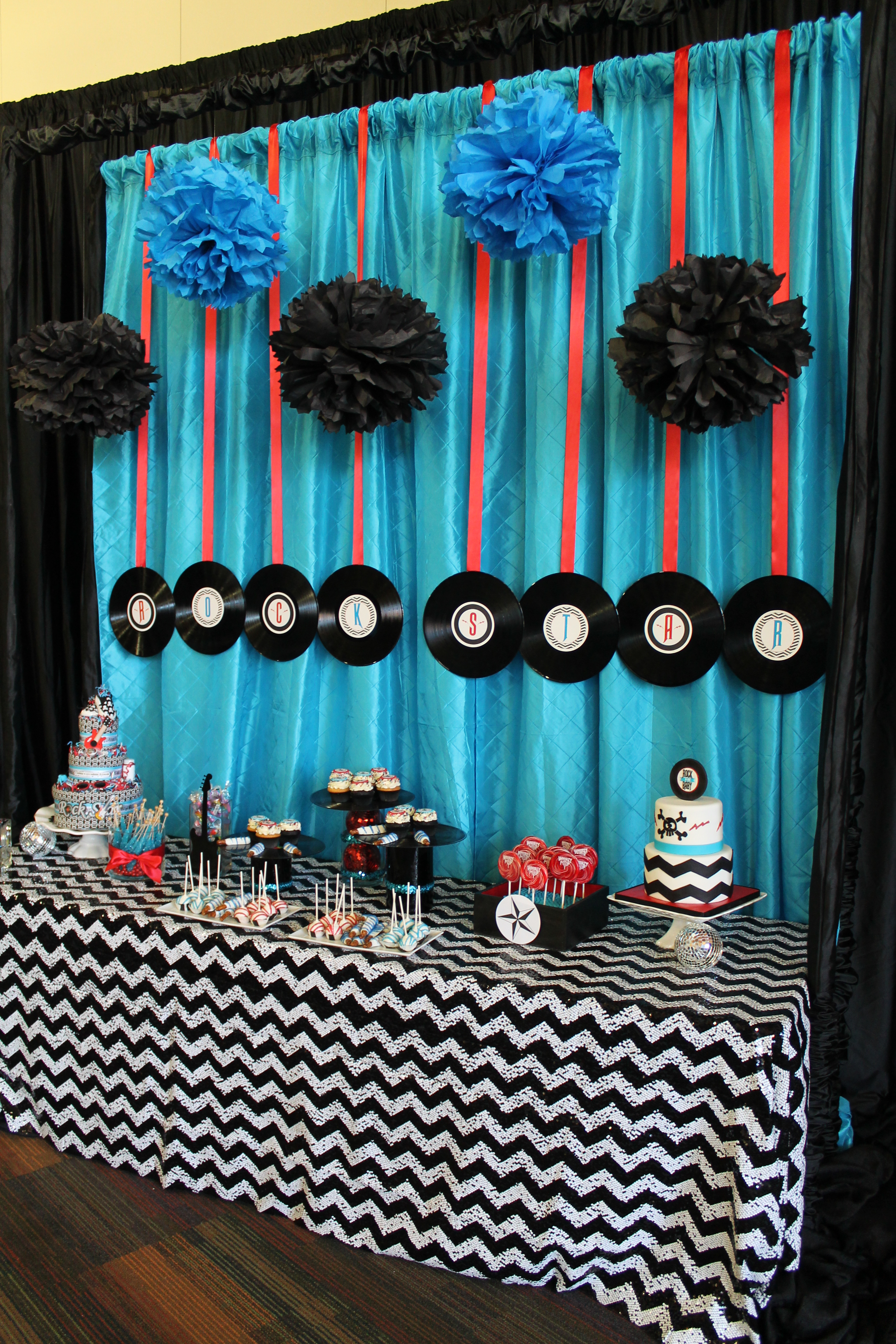 rock n roll baby shower fearon may events. Black Bedroom Furniture Sets. Home Design Ideas
